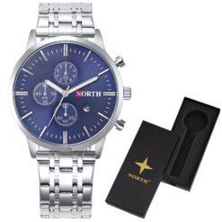 Zegarek north steel niebieski z pudełkiem