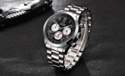 Zegarek Benyar Classic srebrno-czarno-czerwony