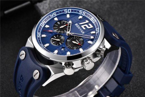 Zegarek Benyar Canaveral srebrny-niebieski
