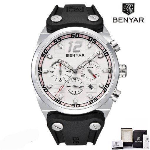 Zegarek Benyar Canaveral srebrny-biały
