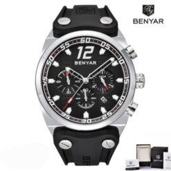 Zegarek Benyar Canaveral srebrny-czarny