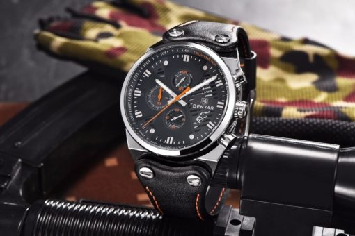 Zegarek Benyar Blackshadow srebrny-pomarańczowy BY5110