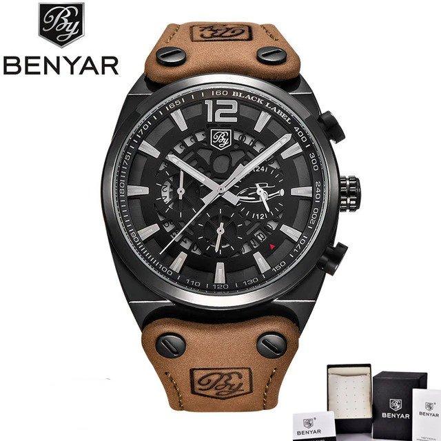 Zegarek Benyar Blackbird czarny-srebrny BY5112 4