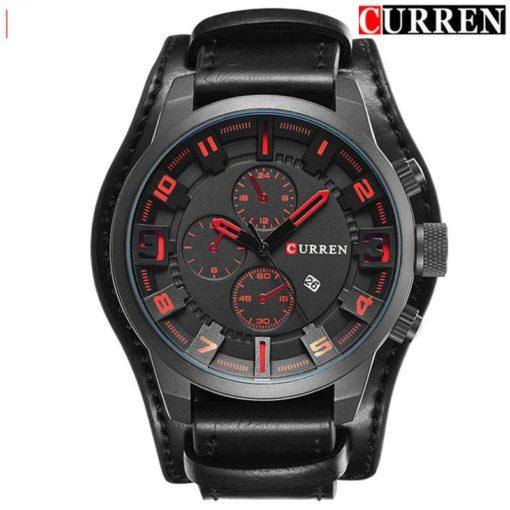 Zegarek Curren Grizzly czarny czerwony