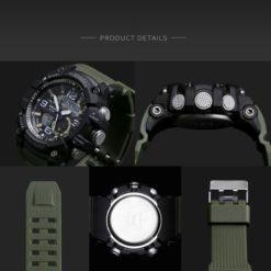 Zegarek Smael Military zielony 3