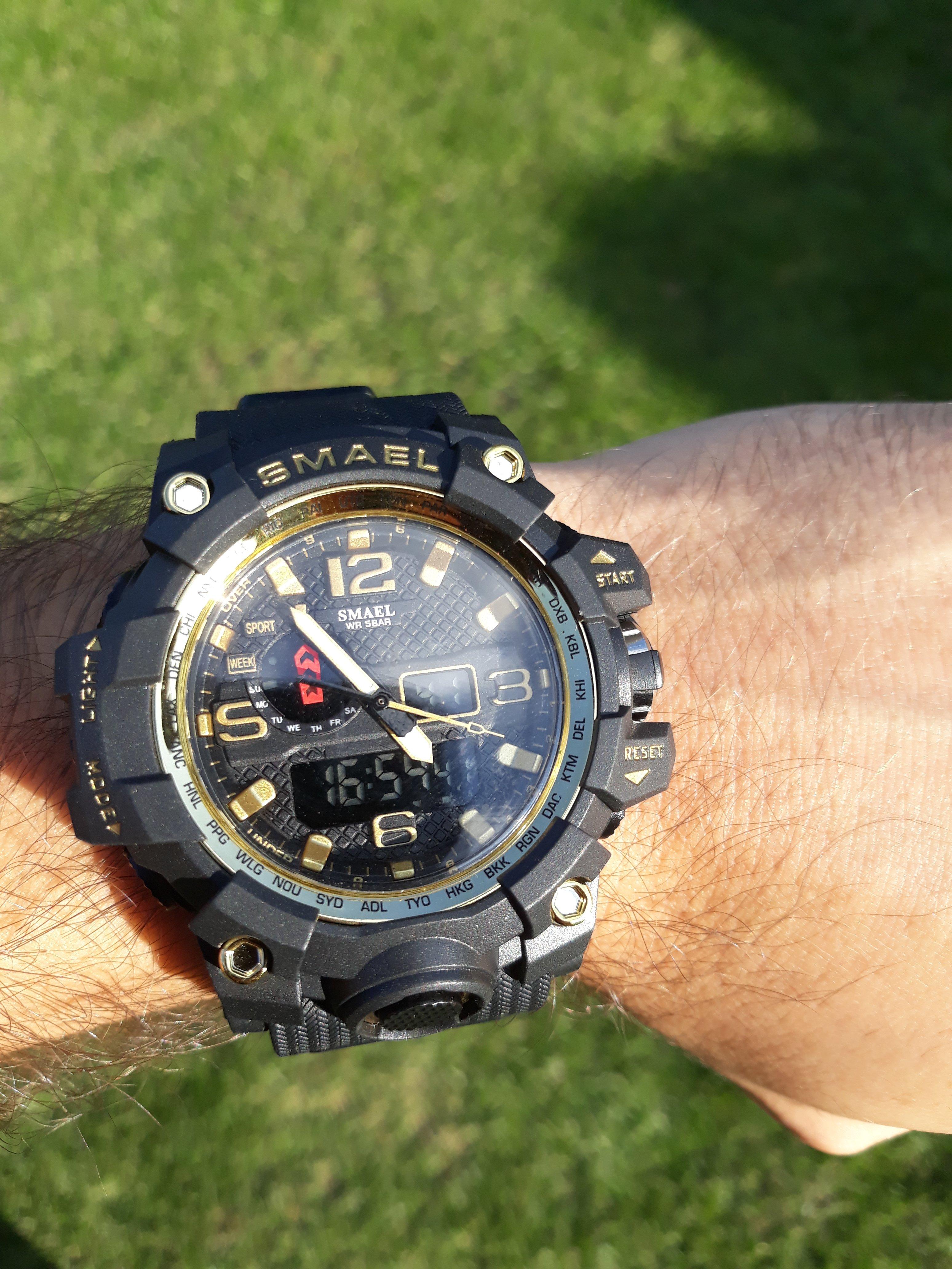 Zegarek Smael Camouflage złoty 10
