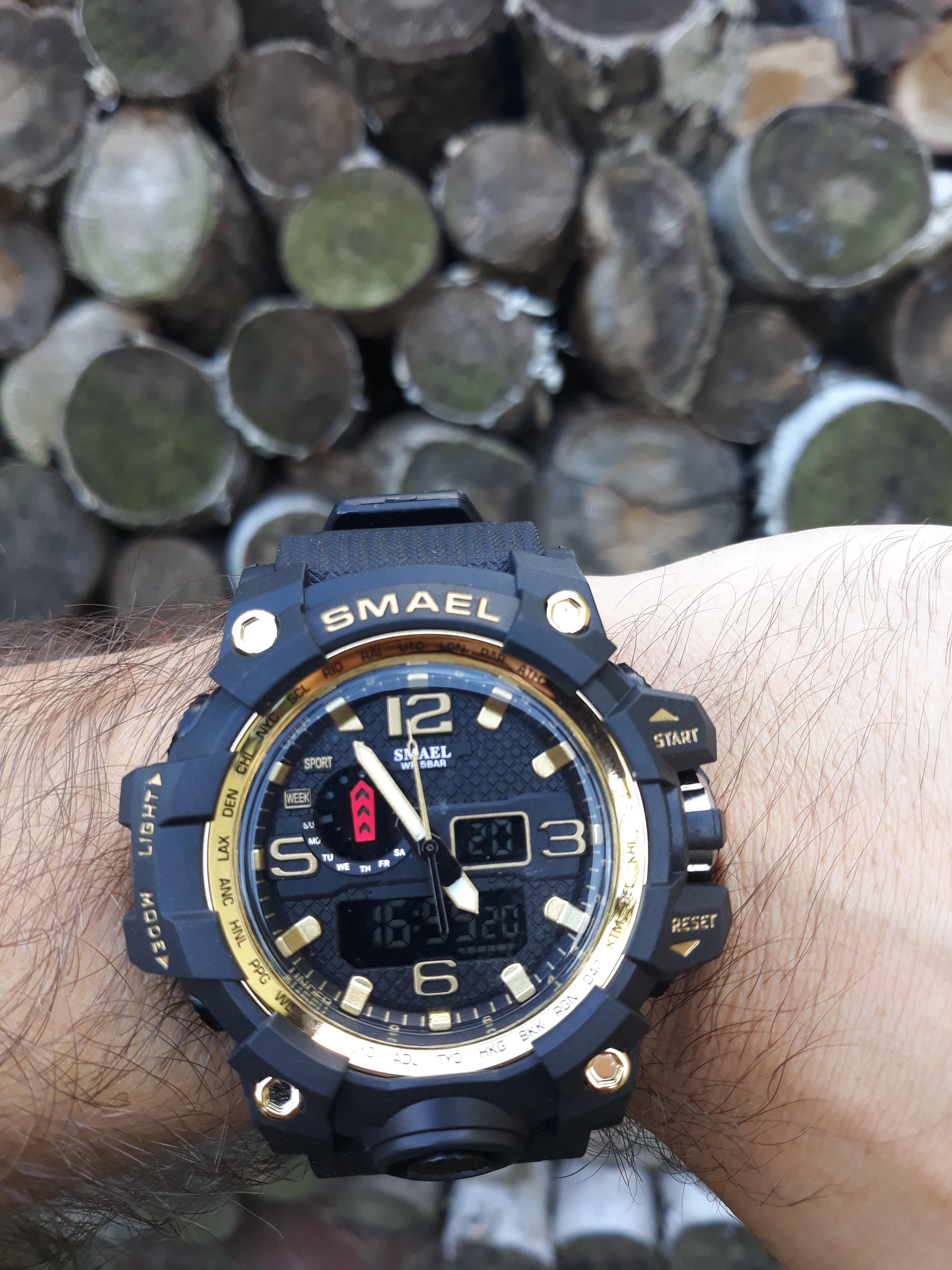 Zegarek Smael Camouflage złoty 11