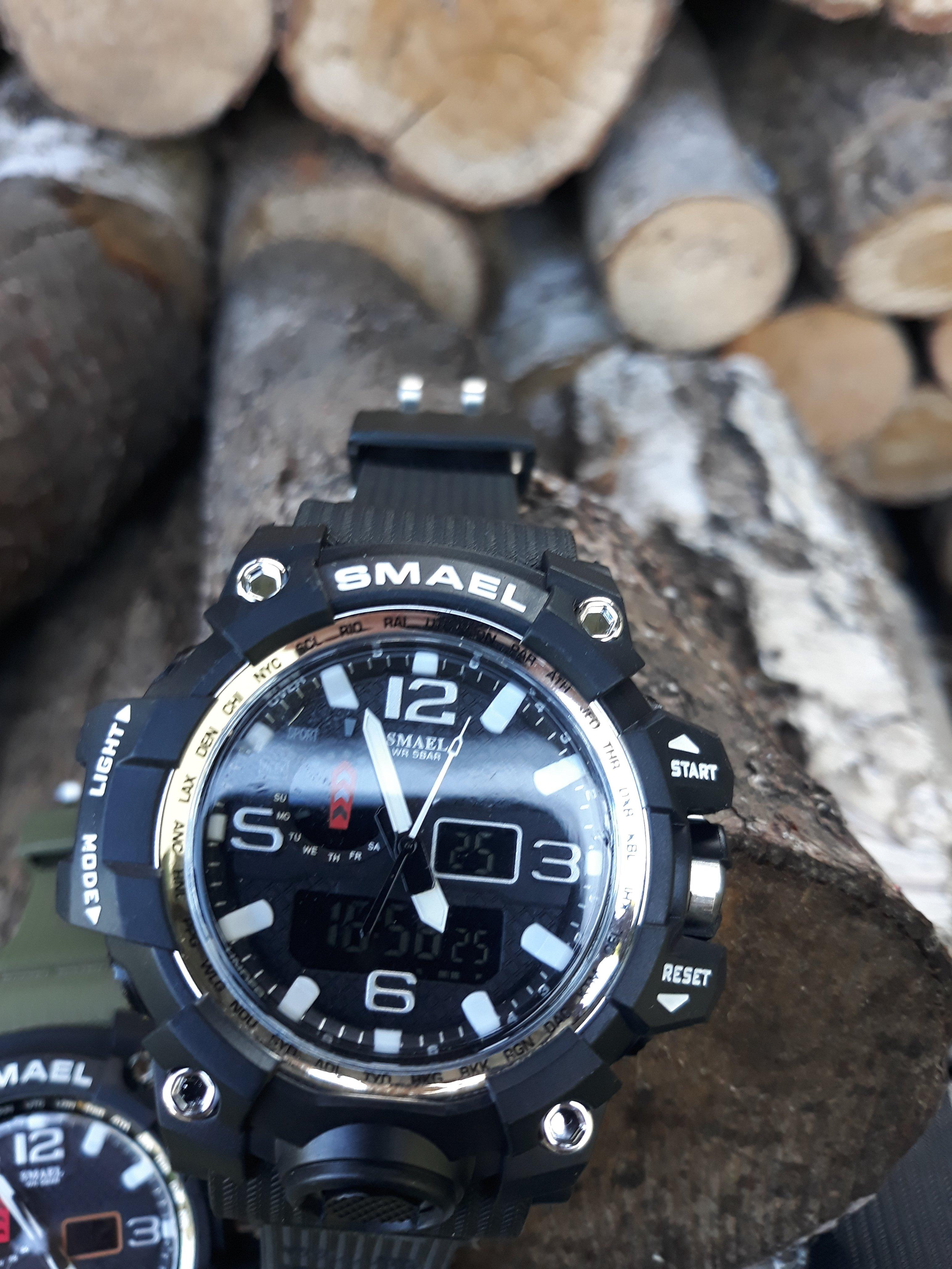 Zegarek Smael Camouflage biały 10