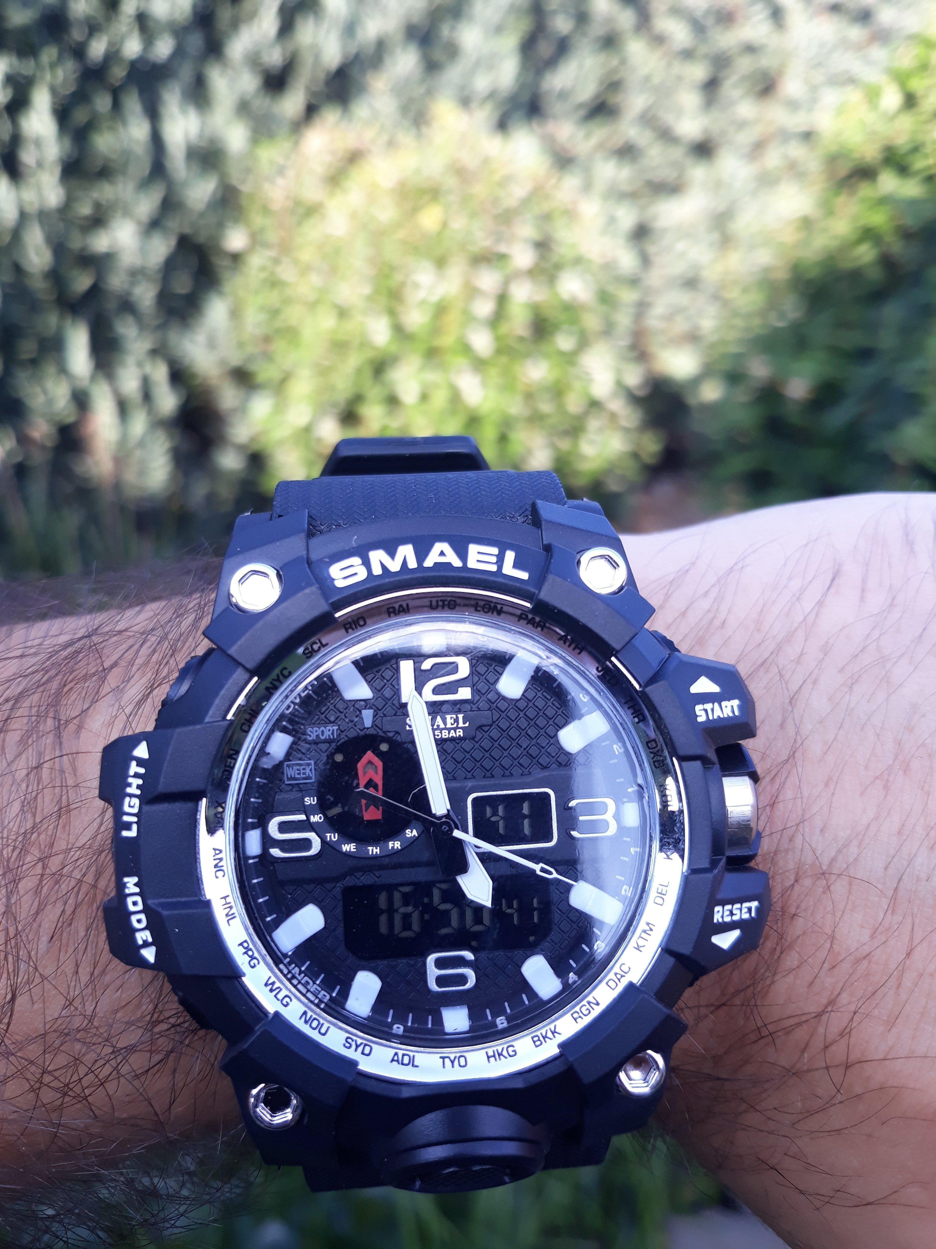 Zegarek Smael Camouflage biały 11