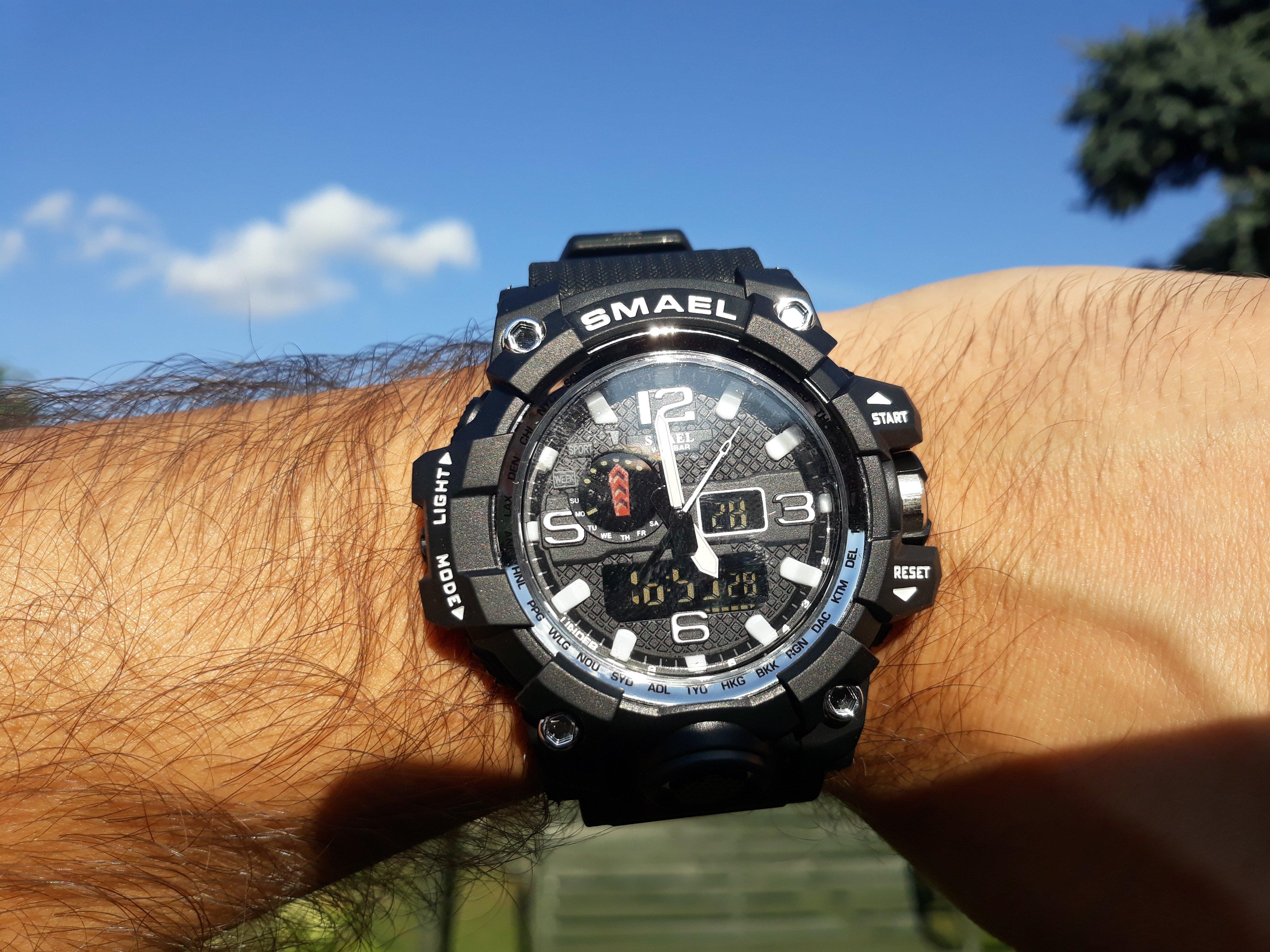 Zegarek Smael Camouflage biały 12