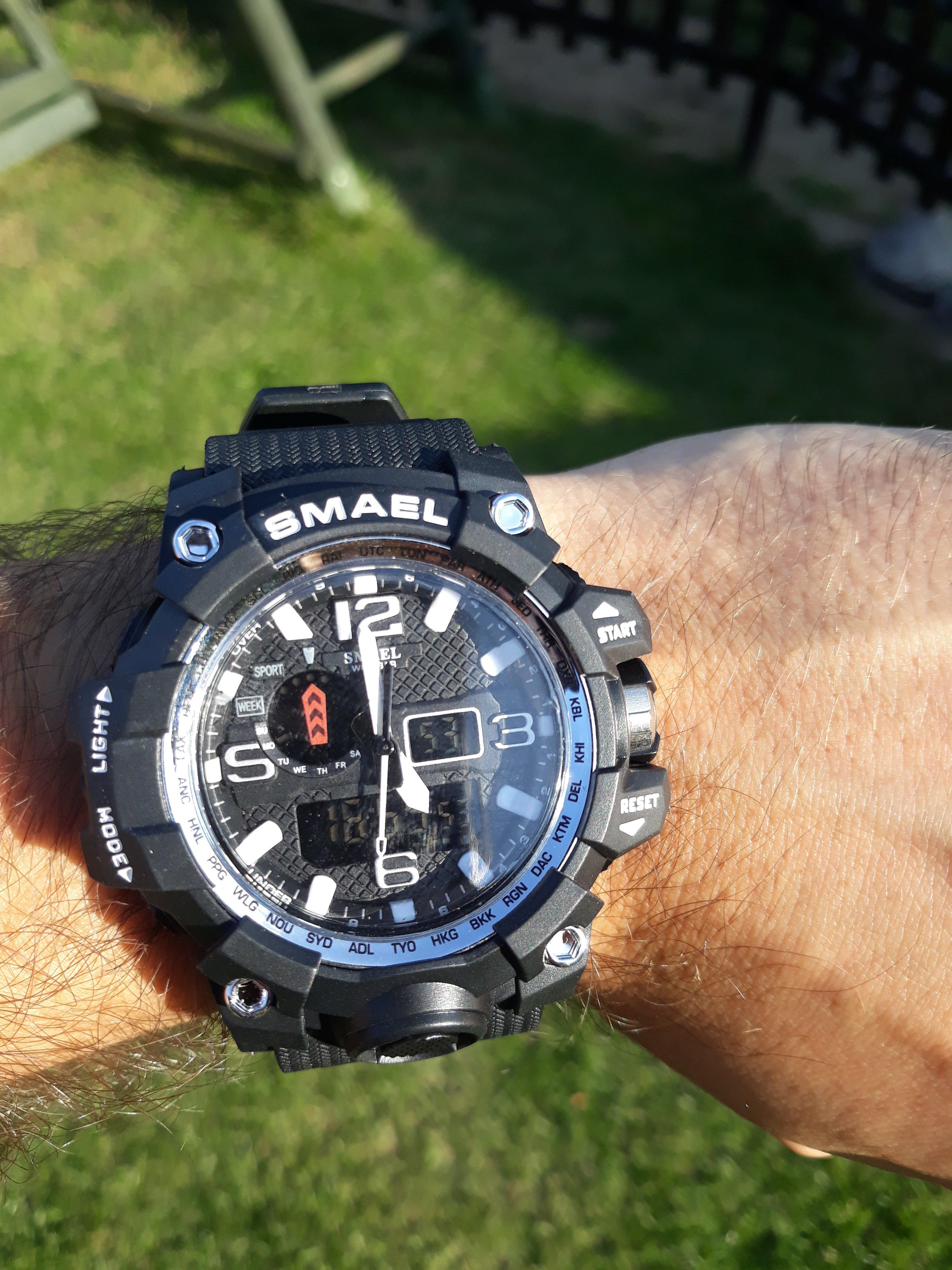 Zegarek Smael Camouflage biały 9