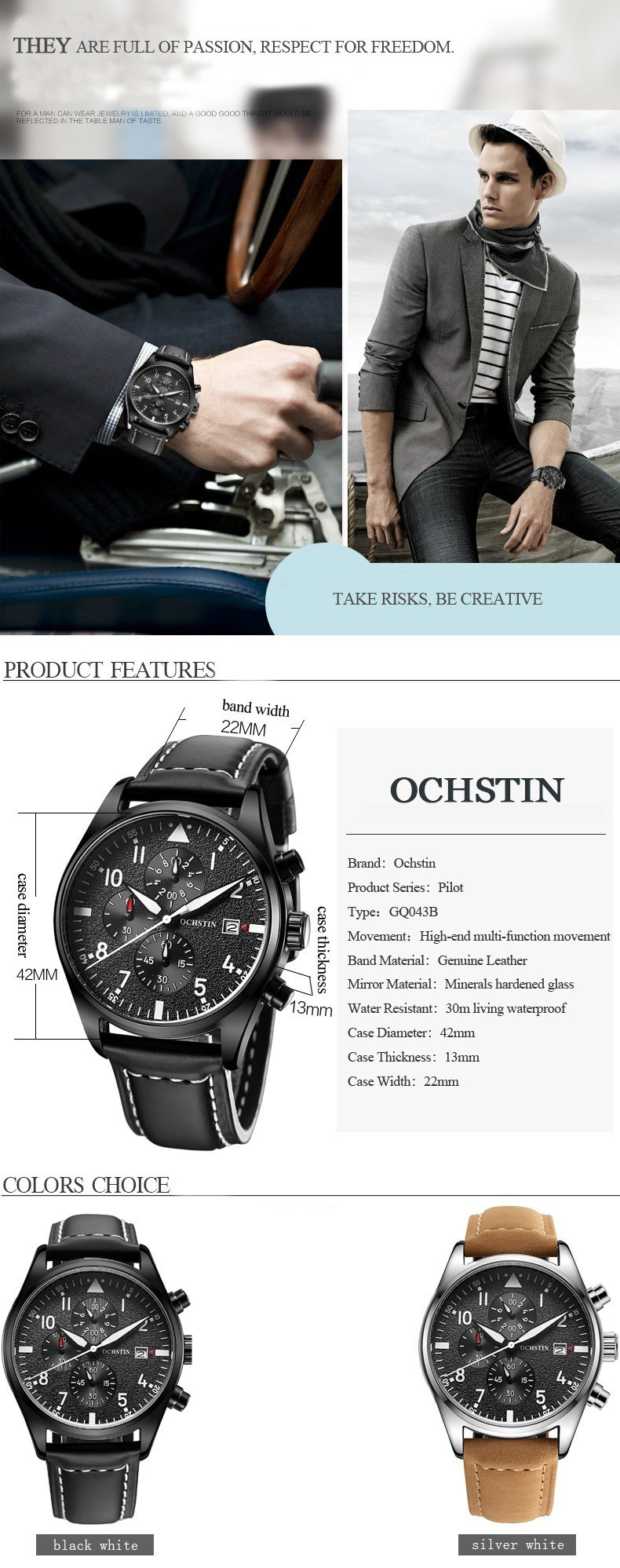 Zegarek Ochstin Infinity Czarny 4
