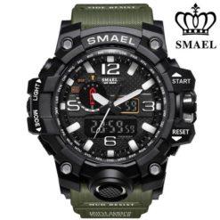Zegarek Smael Camouflage zielony
