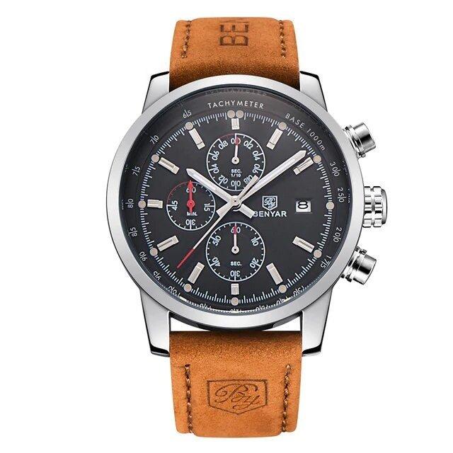 Srebrno-czarny zegarek Benyar BY5102