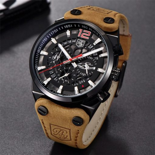 Zegarek Benyar Blackbird czarny-czerwony BY5112
