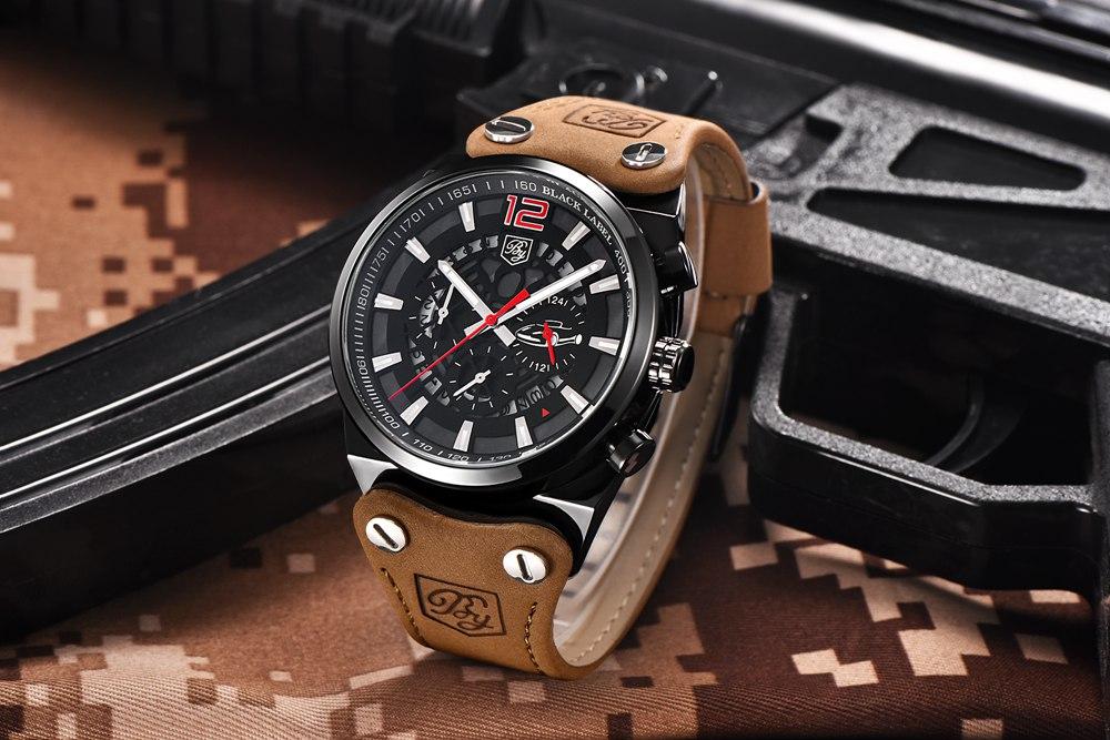 Zegarek Benyar Blackbird czarny-czerwony BY5112 7