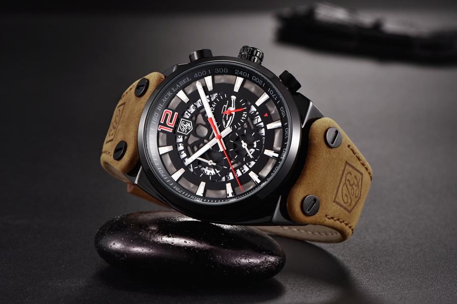 Zegarek Benyar Blackbird czarny-czerwony BY5112 8
