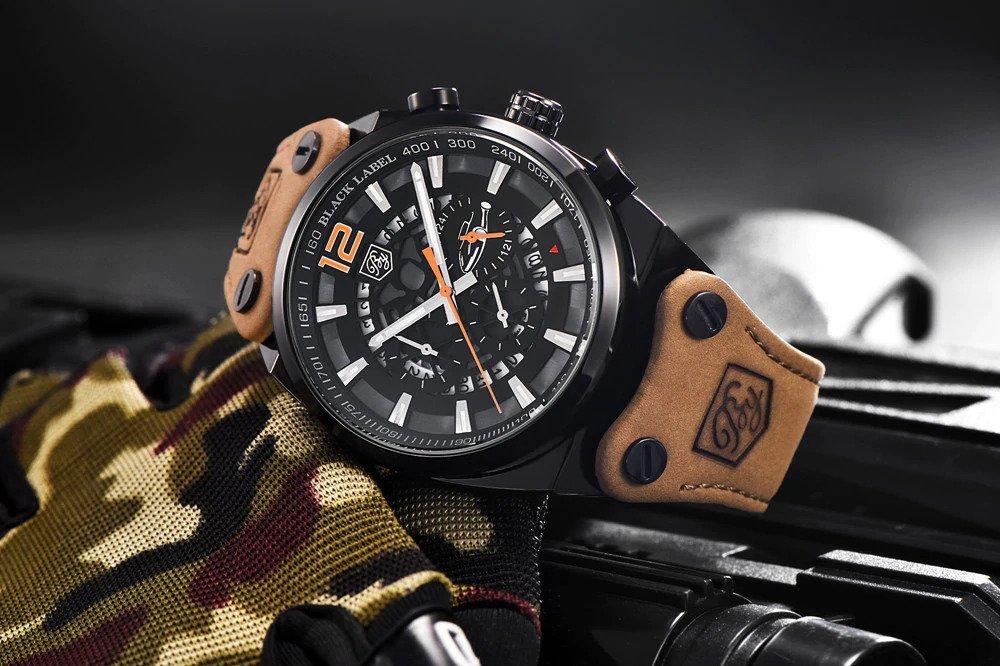 Zegarek Benyar Blackbird czarny-pomarańczowy BY5112 5