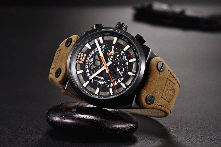 Zegarek Benyar Blackbird czarny-pomarańczowy BY5112 6