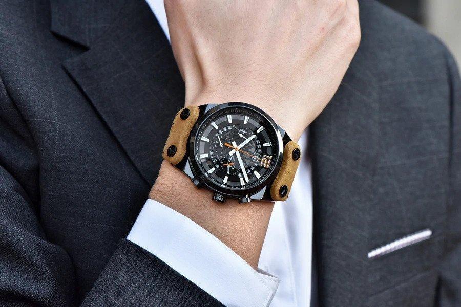 Zegarek Benyar Blackbird czarny-pomarańczowy BY5112 7