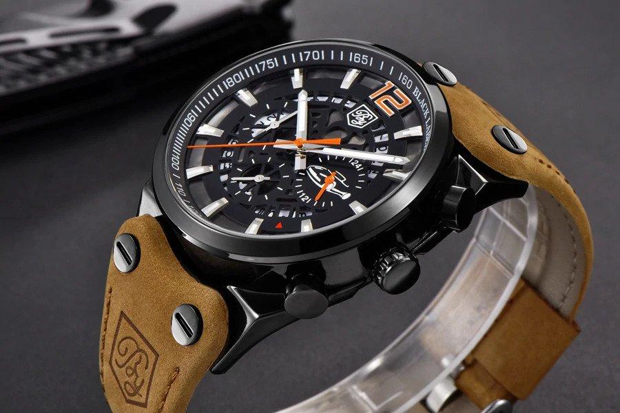 Zegarek Benyar Blackbird czarny-pomarańczowy BY5112 8