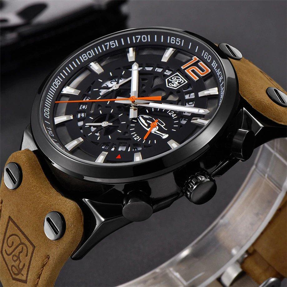 Zegarek Benyar Blackbird czarny-pomarańczowy BY5112 11