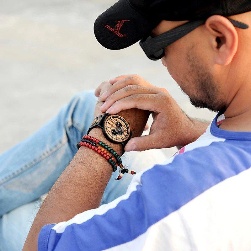 Zegarek drewniany Bobo Bird Max P09-1 bransoleta 8