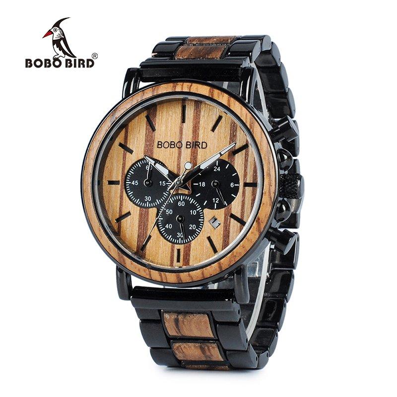Zegarek drewniany Bobo Bird Max P09-1 bransoleta 7