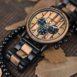 Zegarek drewniany Bobo Bird Max P09-1 bransoleta 4