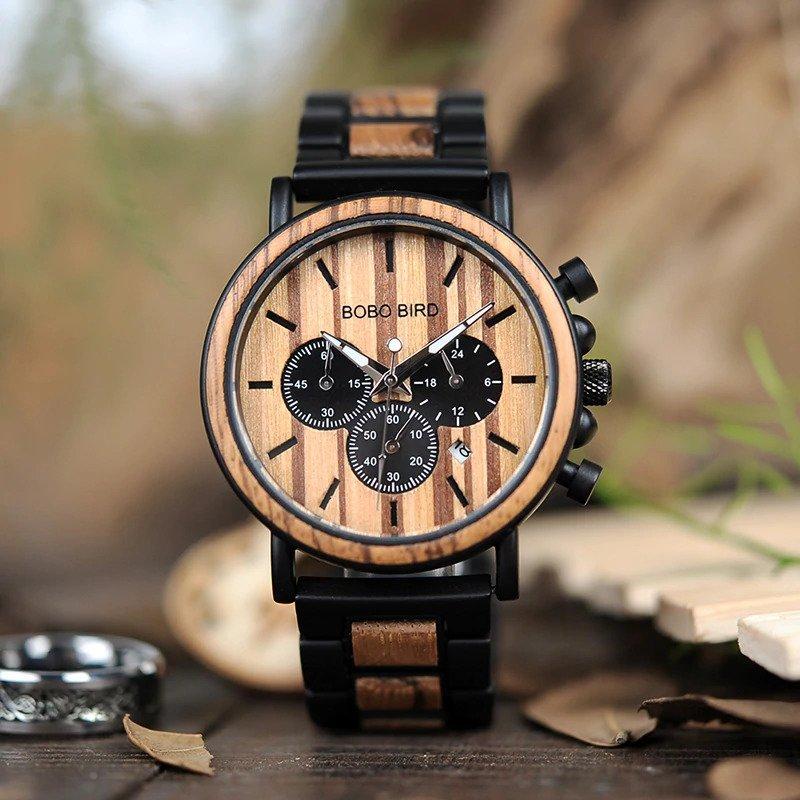 Zegarek drewniany Bobo Bird Max P09-1 bransoleta 10