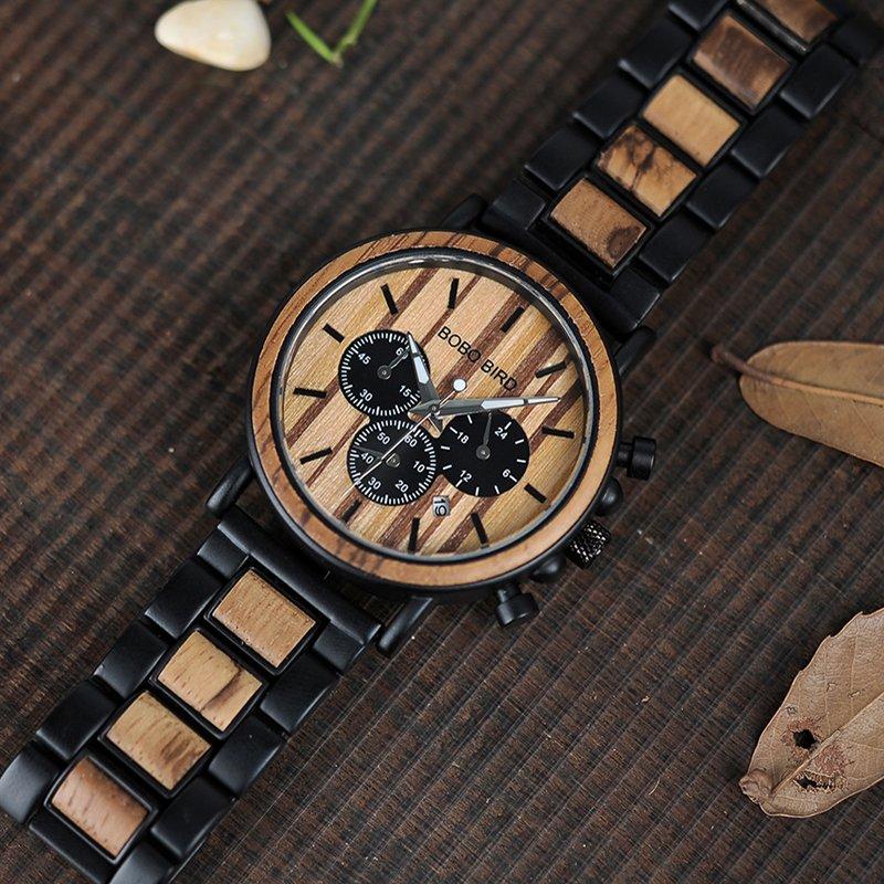 Zegarek drewniany Bobo Bird Max P09-1 bransoleta 11
