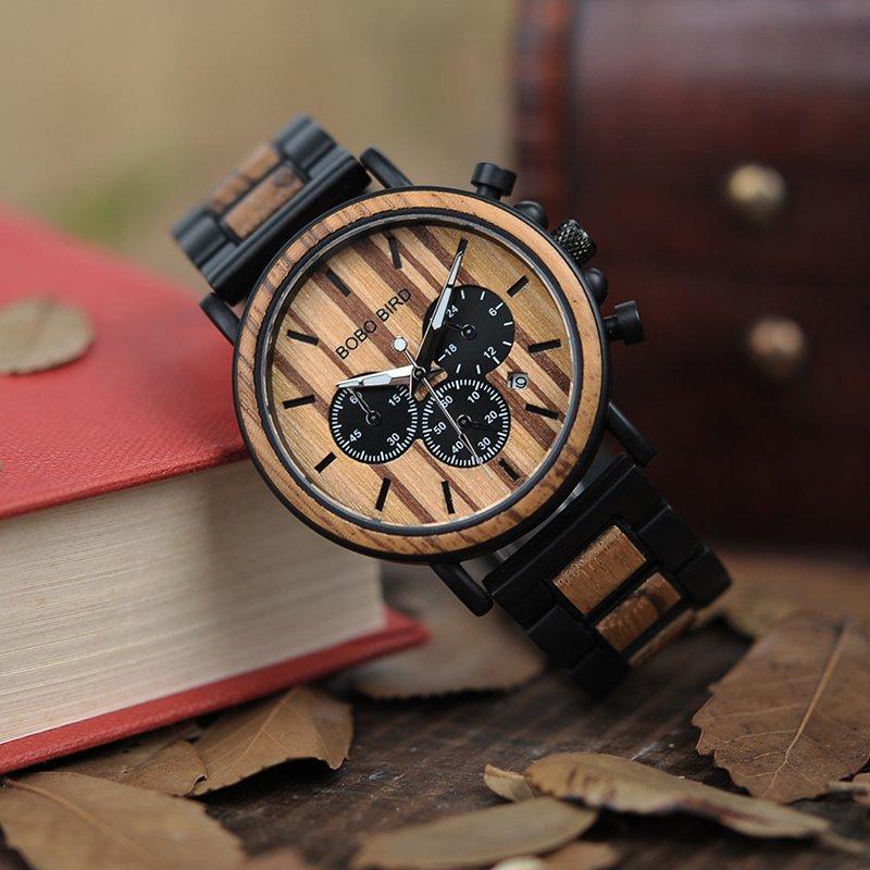 Zegarek drewniany Bobo Bird Max P09-1 bransoleta 13