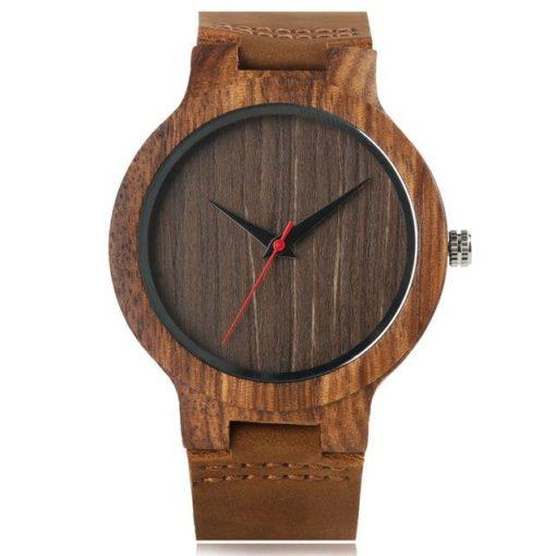 Zegarek Yisuya Wood brązowy 1