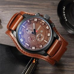 Zegarek Curren Grizzly brązowy biały 3