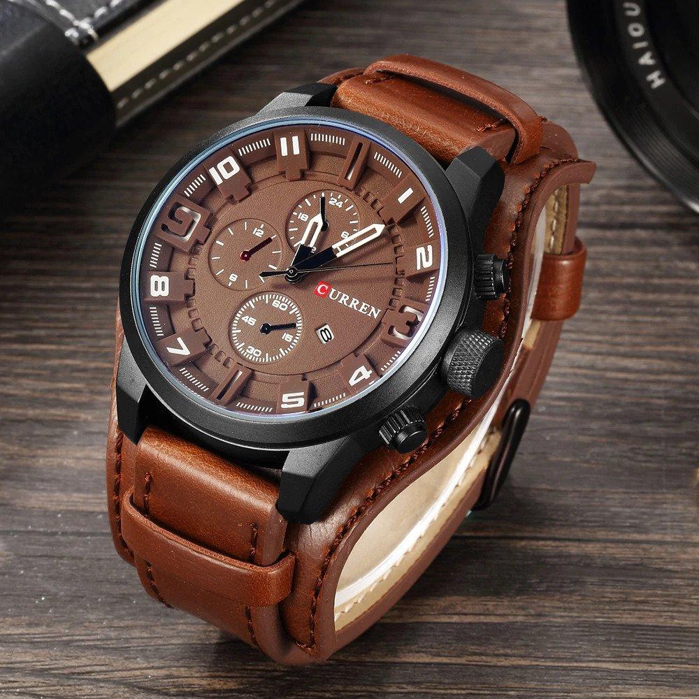 Zegarek Curren Grizzly brązowy biały 10