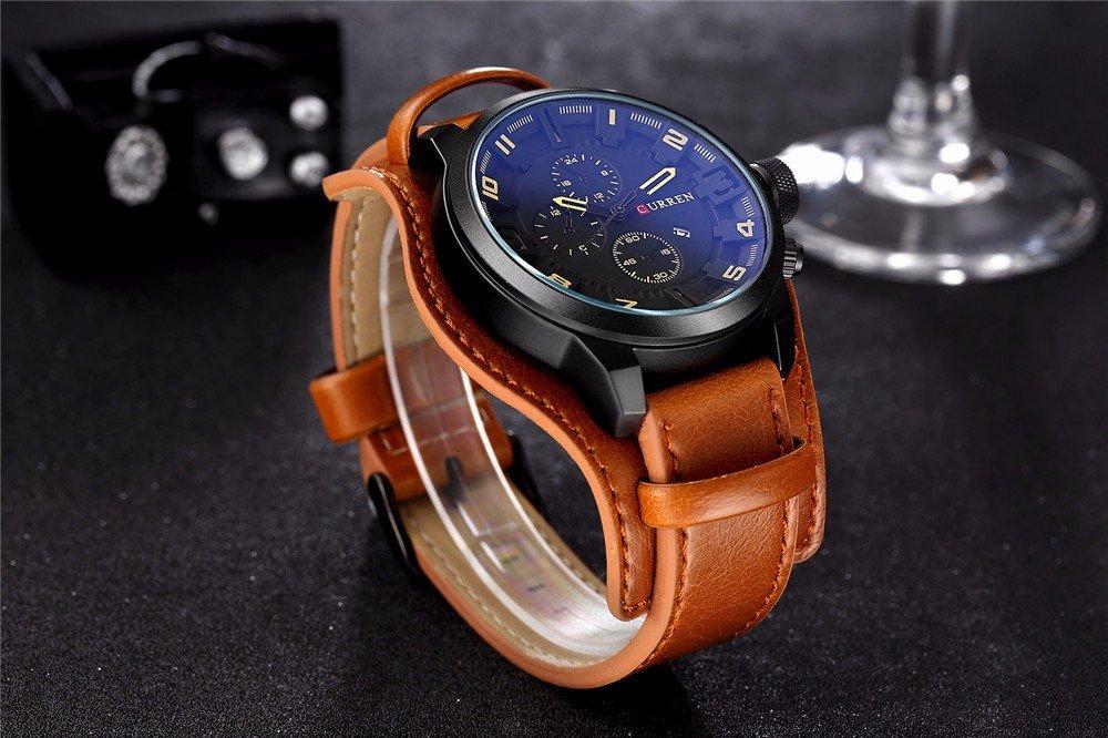 Zegarek Curren Grizzly brązowy żółty 16