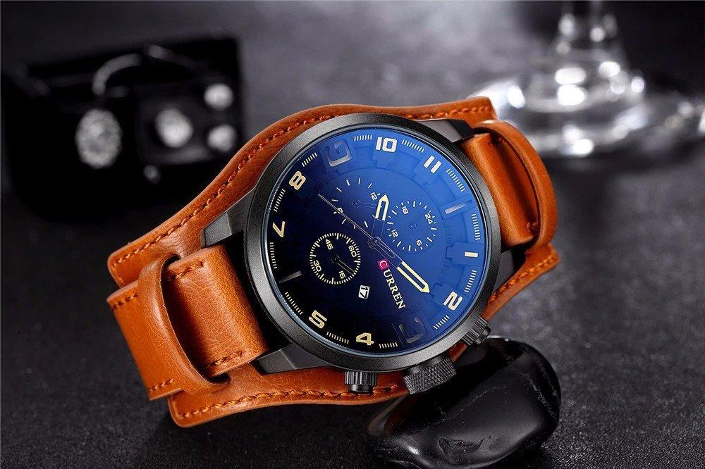 Zegarek Curren Grizzly brązowy żółty 17
