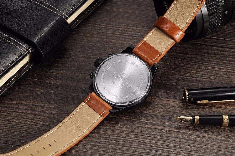 Zegarek Curren Grizzly brązowy żółty 9