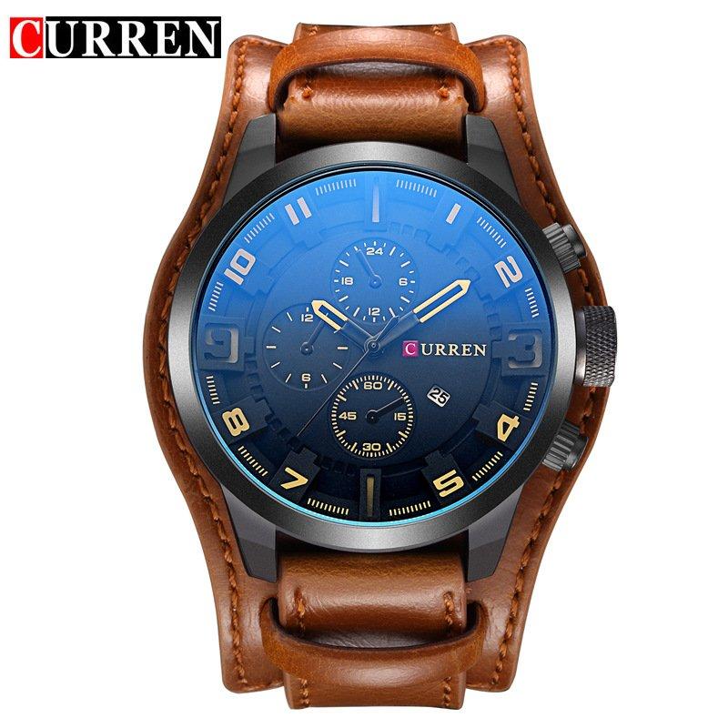 Zegarek Curren Grizzly brązowy żółty 11