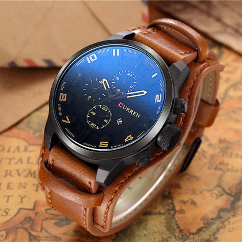Zegarek Curren Grizzly brązowy żółty 12
