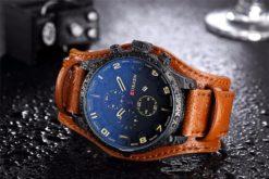 Zegarek Curren Grizzly brązowy żółty 4