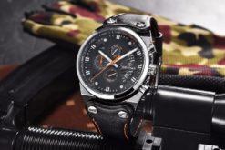 Zegarek Benyar Blackshadow srebrny-pomarańczowy BY5110 2