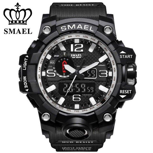 Zegarek Smael Camouflage biały 6