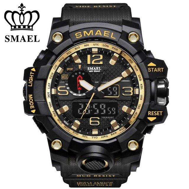 Zegarek Smael Camouflage złoty 8
