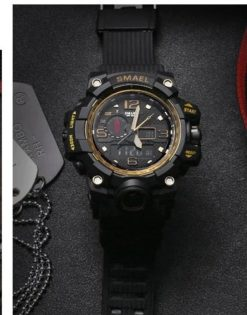 Zegarek Smael Camouflage złoty 3