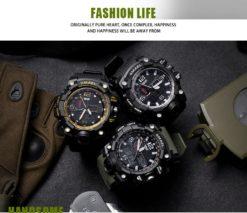 Zegarek Smael Camouflage złoty 2