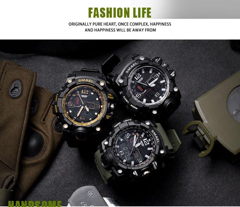 Zegarek Smael Camouflage złoty 13