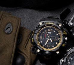 Zegarek Smael Camouflage złoty 4