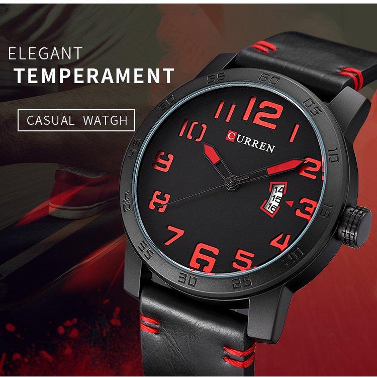 Zegarek Curren Beets czarny czerwony 6