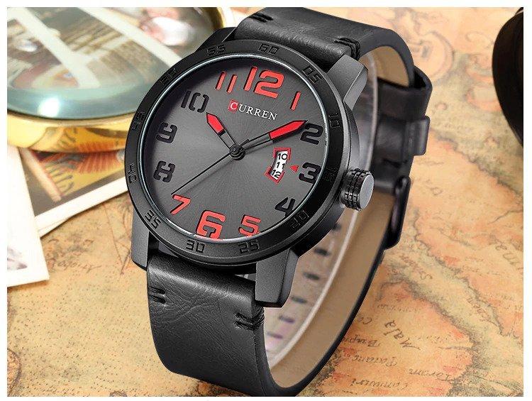 Zegarek Curren Beets czarny czerwony 7
